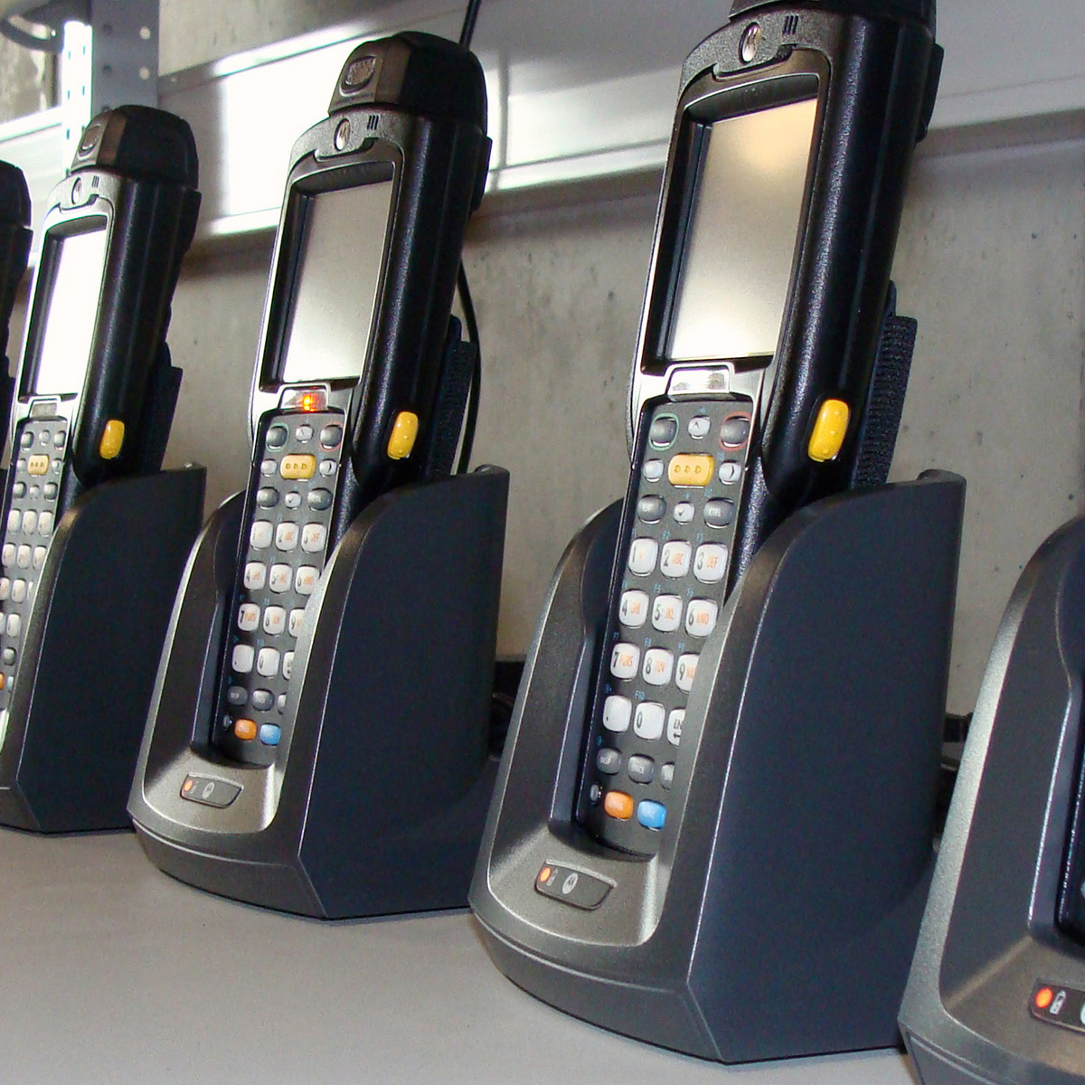 Eine Reihe von MDE Geräten