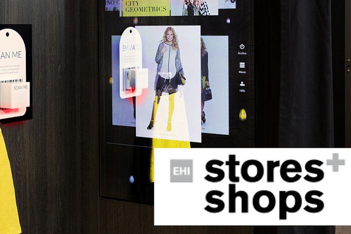 Interactive Fitting Room für Pressemeldung im Magazin stores+shops