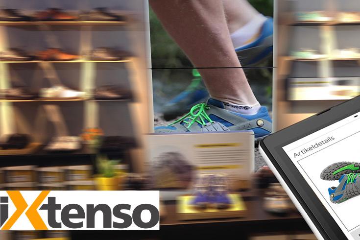 Push-to-Screen Darstellung für Pressemeldung im Magazin iXtenso