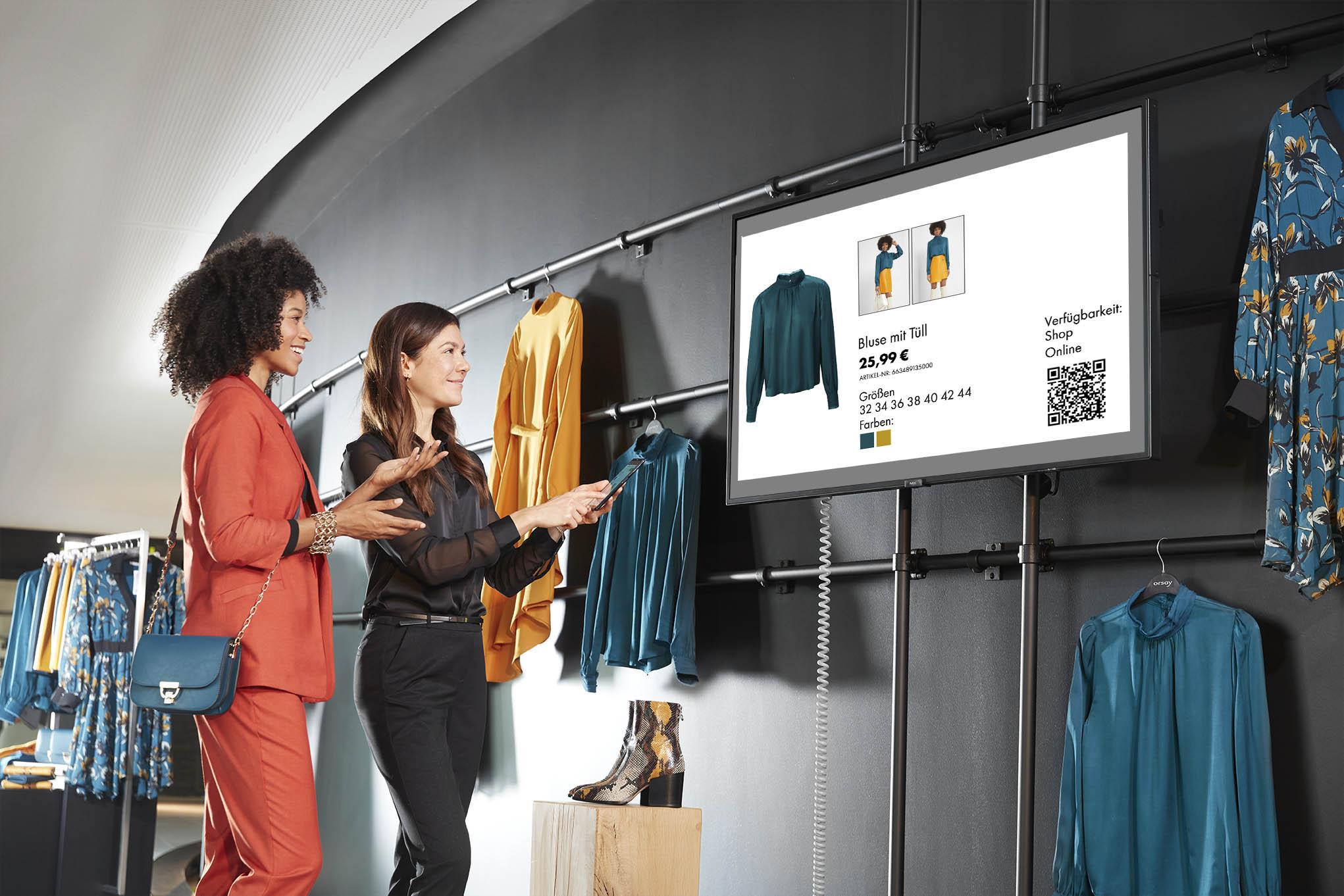 Digital Signage Präsentation und Steuerung via dem InStore Assistant