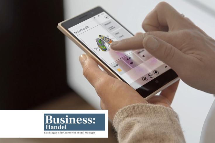 Close-Up Instore Assistant für Pressemeldung im Magazin Business: Handel