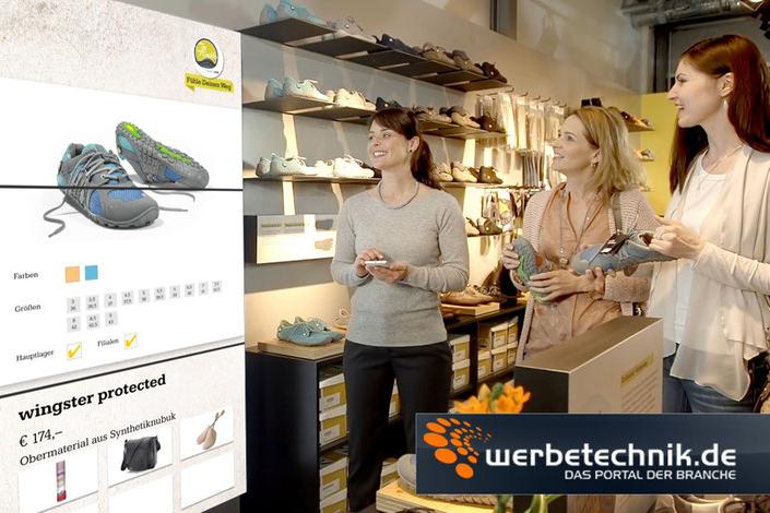Guided Selling bei Schuh Bär für die Pressemeldung im Magazin werbetechnik.de