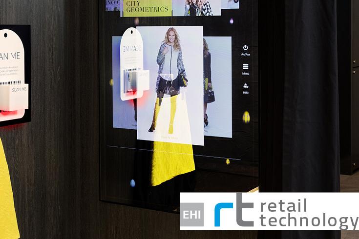 Interactive Fitting Room für Pressemeldung im Magazin Retail Technology