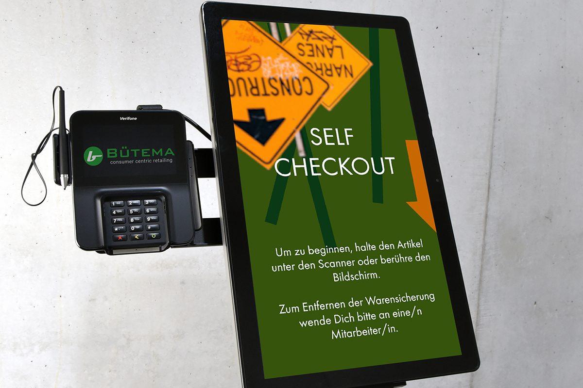 Self Checkout Terminal mit Bezahlsytem