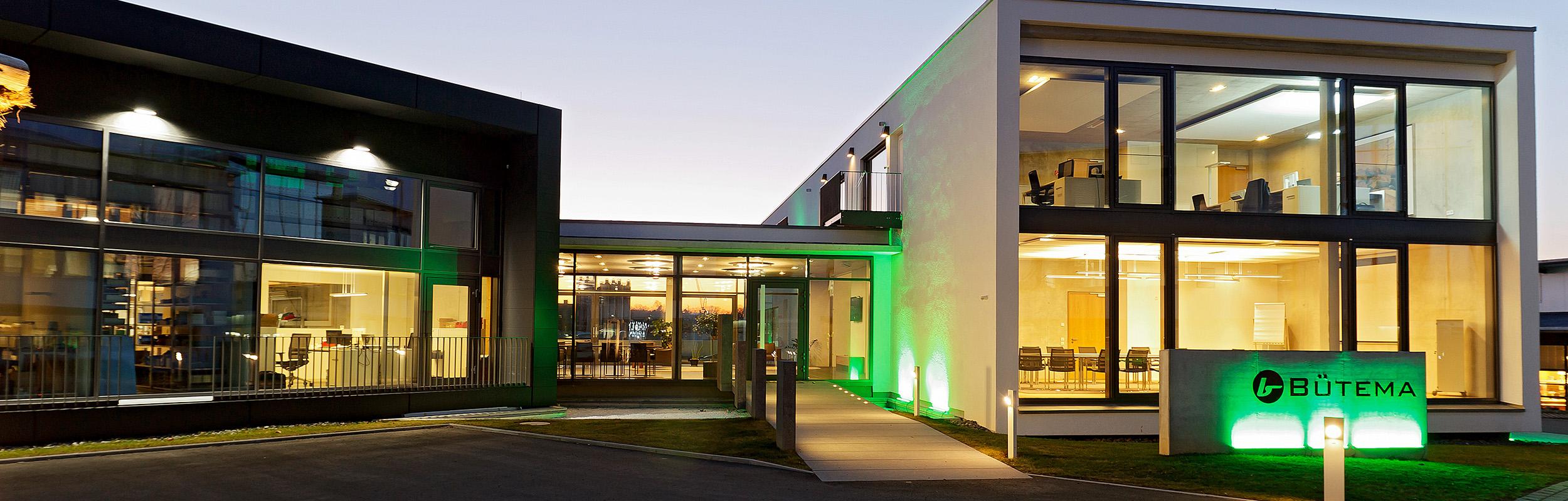 Home: Außenansicht des Bütema AG Unternehmenssitzes/Gebäude von vorne