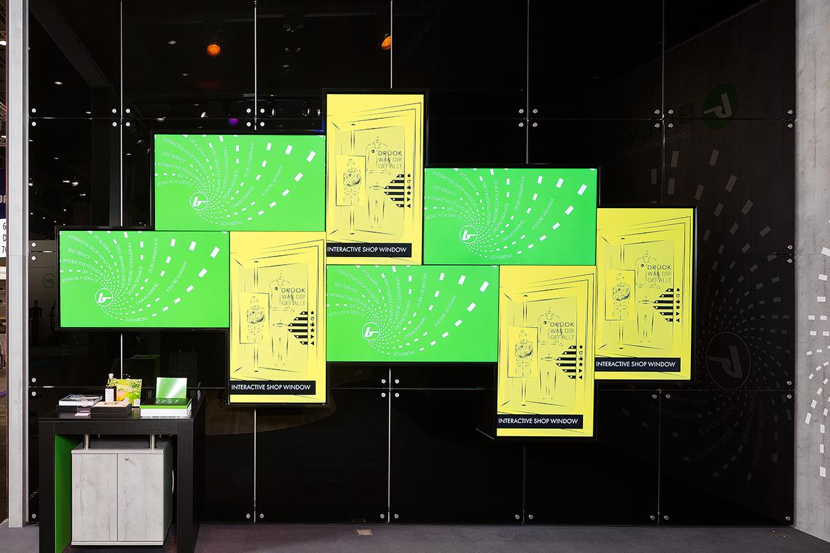 Digital Signage Installation auf der Messe EuroSHOP 2020