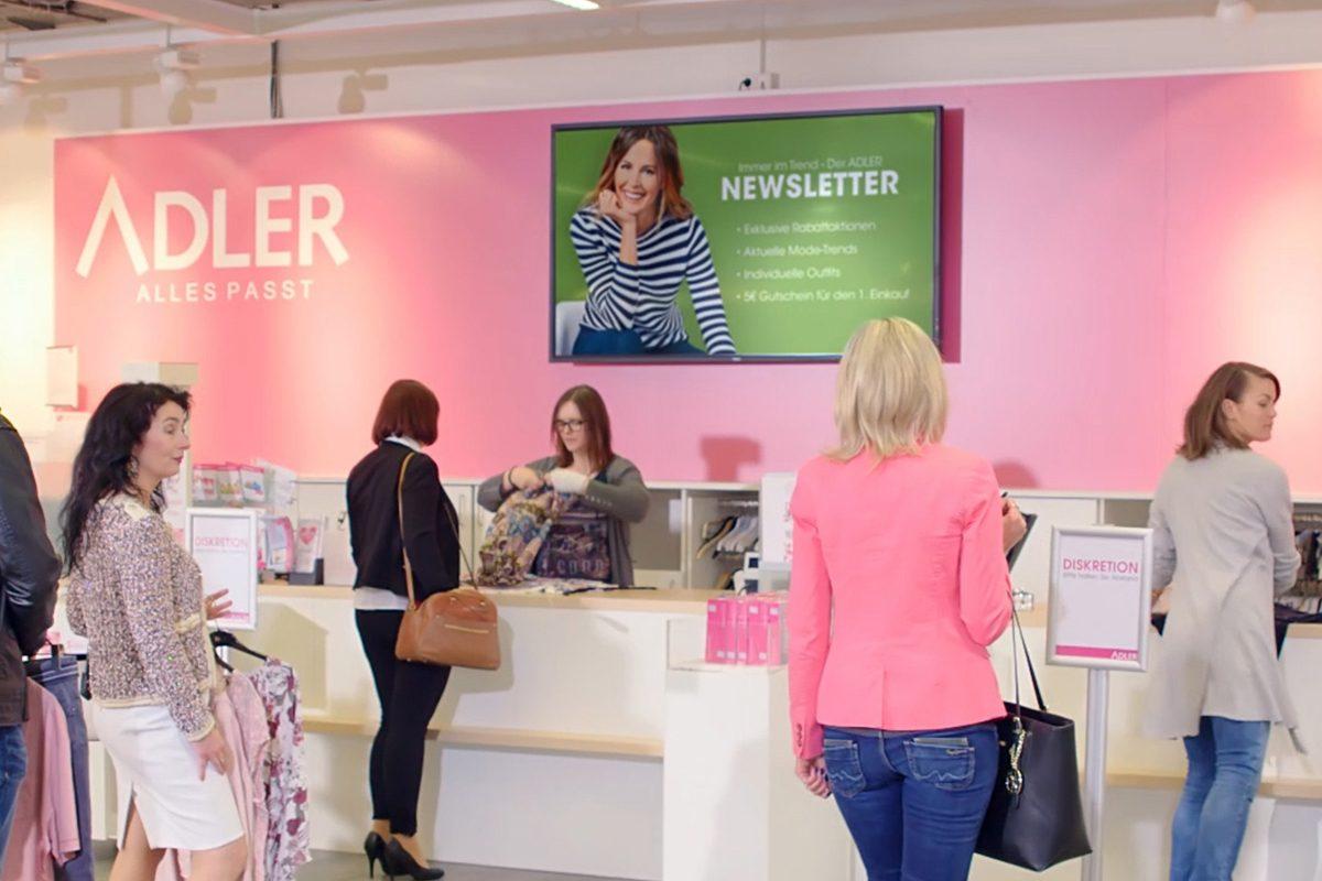 Digital Signage bei Adler