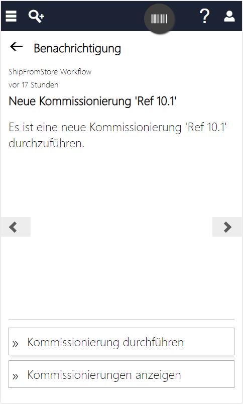 InStore Assistant Screenshot zu Click & Reserve Prozess