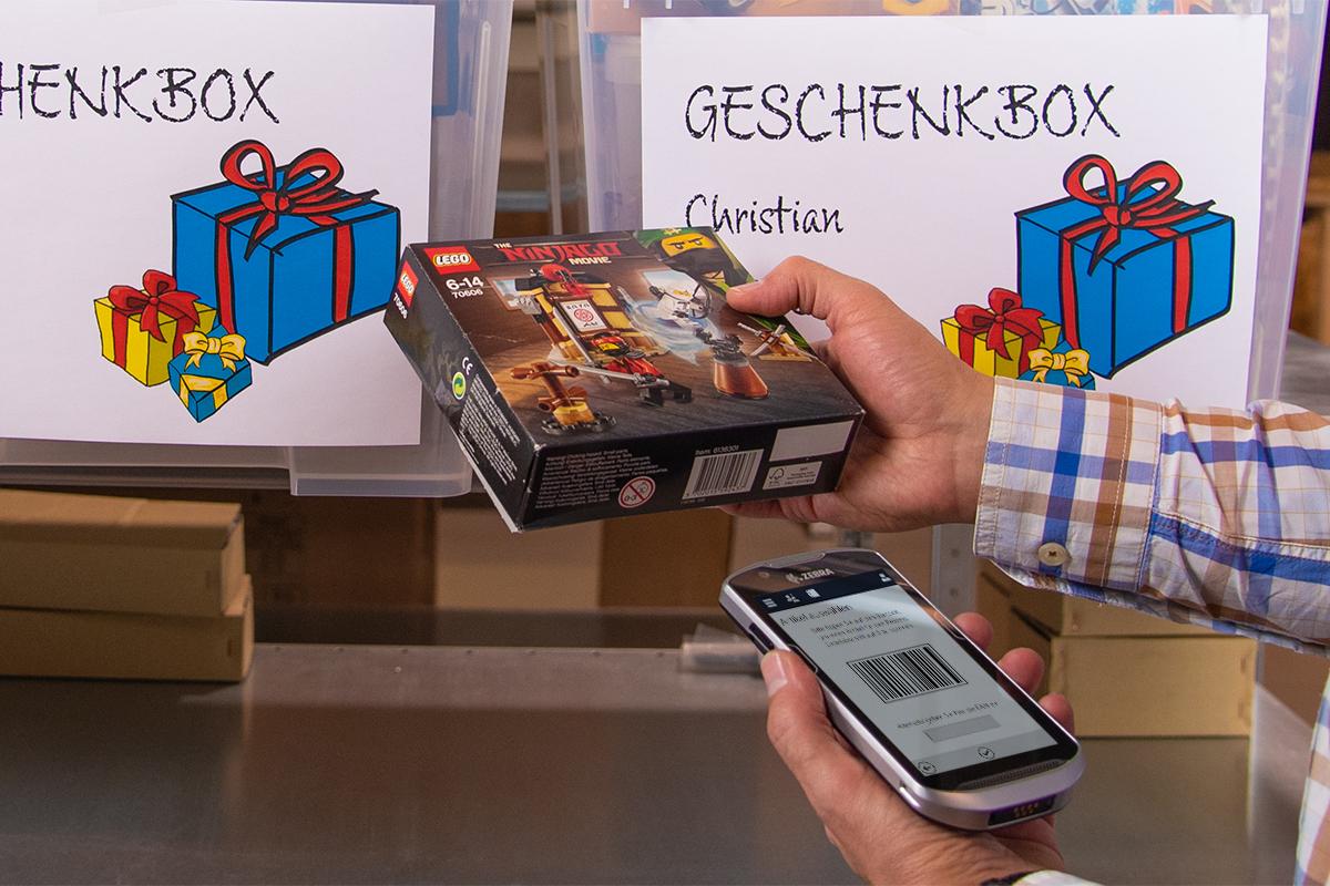 Picking für eine Geschenkbox mit dem InStore Assistant