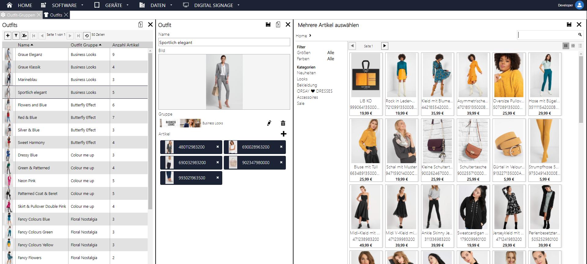 SoviaRetail Backstore für das Interaktive Schaufenster