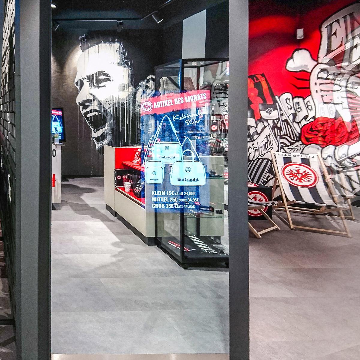 Interaktiver Spiegel bei Eintracht Frankfurt