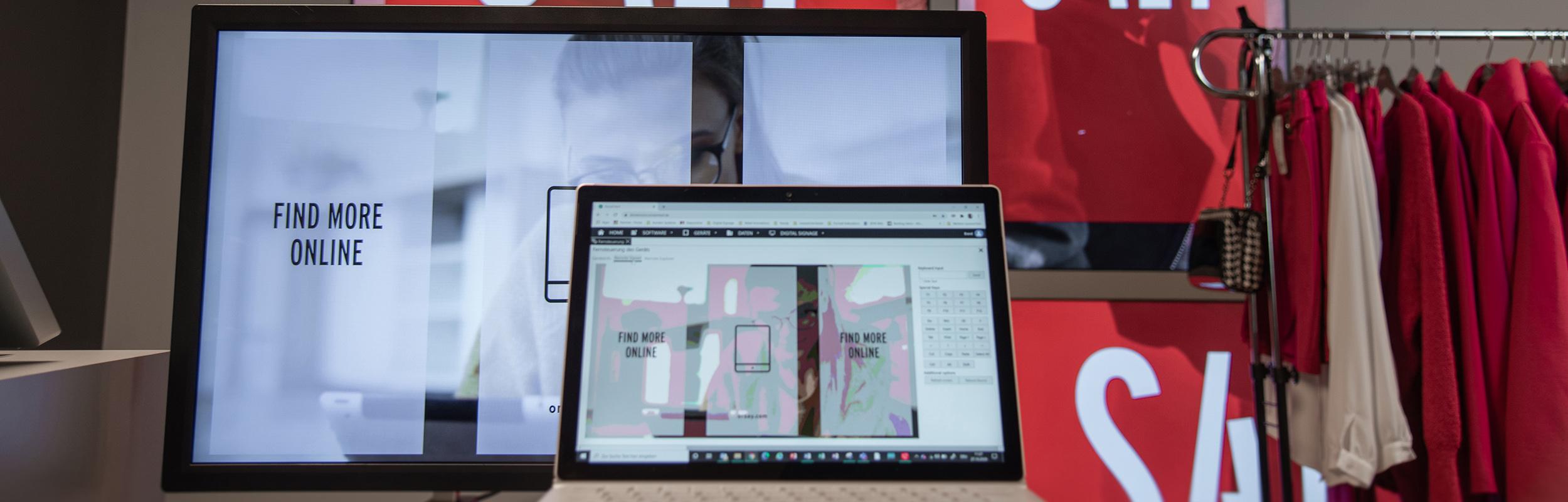 Fernsteuerung vom soviaRetail Backstore auf einen Digital Signage Screen