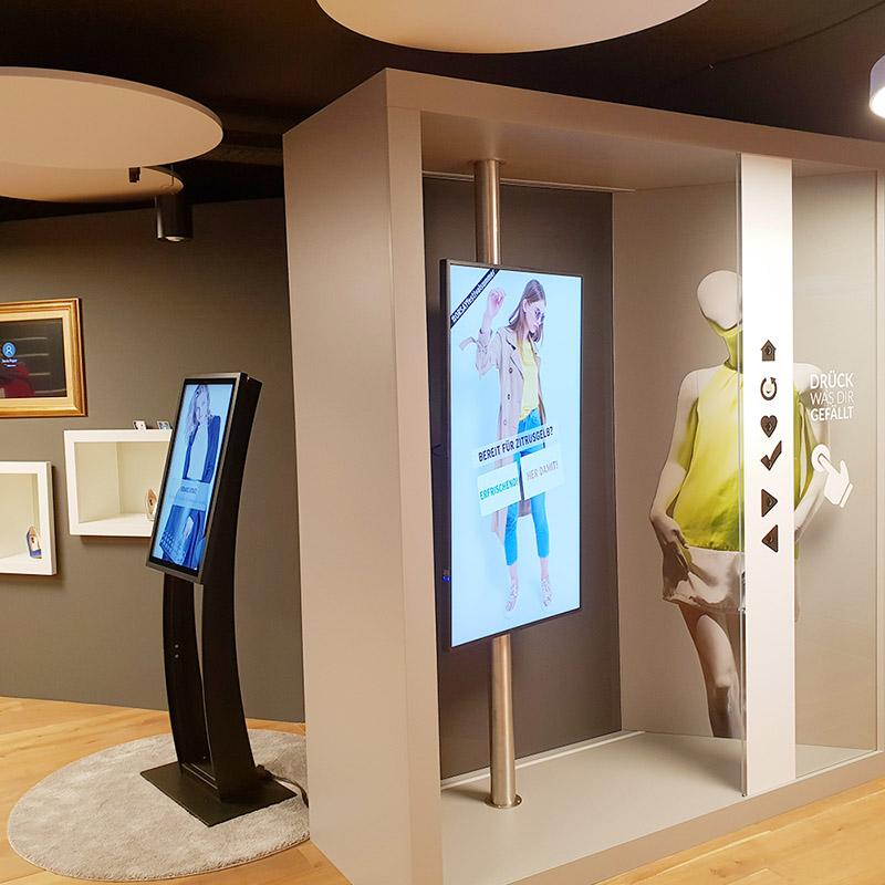 Interkatives Schaufenster im Showroom Bietigheim-Bissingen